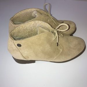 Eddie Bauer Suede Ankle Booties, Size 7